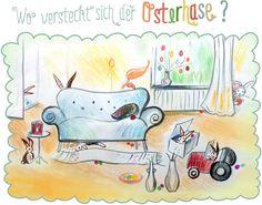 Blog — Die Sprachfee  Ostersuchsel: Wo versteckt sich der Osterhase? Blog, Drawing For Kids, German, Snoopy, Drawings, Teaching Ideas, Fictional Characters, Art, Learn German