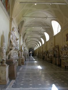Statues at the Vatican Museum