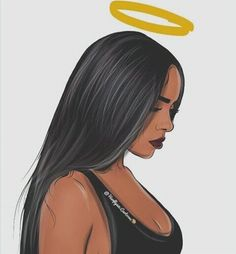 Discovered by Brooklyn. Find images and videos about black, art and sad on We Heart It - the app to get lost in what you love. Black Girl Art, Black Women Art, Black Girl Magic, Art Girl, Black Girl Cartoon, Dope Cartoon Art, Dope Cartoons, Arte Dope, Dope Art