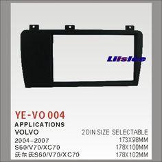 60.00$  Buy here - http://aliruz.shopchina.info/go.php?t=32802503546 - 2 DIN Car Refitting Frame Panel For Volvo S60/V70/XC70 Radio Stereo CD DVD Player NAVI Navigation / Dashboard ABS Fascia Kits  #magazine