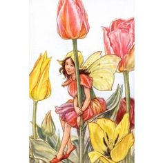 Tulip Fairy Vintage Wall Art