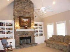 Stacked Rock Fireplace new fireplace? heritage shawnee drystack dry stack stone fireplace