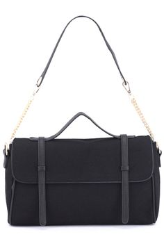Splicing Black Bag  #romwe