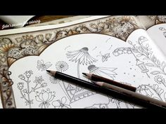 Book: world of flowers by Johanna Basford Pencils: prismacolor pencils Numbers: 1072 French grey 1077 colourless blender 1082 chocolate 947 dark umber Coloring Tips, Adult Coloring, Coloring Books, Coloring Pages, Johanna Basford Coloring Book, Colored Pencil Techniques, Coloring Tutorial, Polychromos, Prismacolor