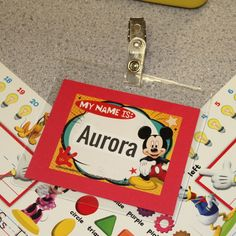 Student Name Tags.  Mickey Mouse classroom decor!  If you love Mickey Mouse, you will love these decorations from Eureka!