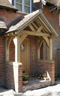 Oak Porch - Sawn Green Oak. Would really like a porch on the front of our house.