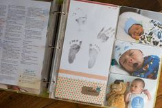 Creating a baby book Project Life style: from Simply Autumn. Really great ideas!
