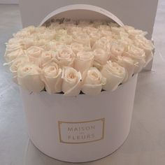 White on white  flower box