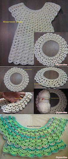Crochet Dress & quot; marshmallow & quot; Video Master Class - Knitting - Home Moms
