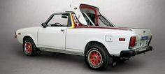 """this Subaru BRAT has a """"high"""" bar, intended for owners wishing to use the rear seats (the available """"low"""" bar was for owners not intending to use the rear seats)"""