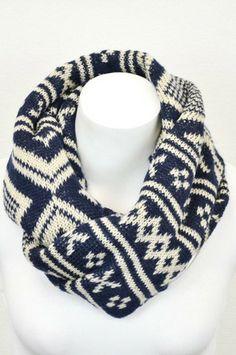 Cozy Sweater Scarf: Navy