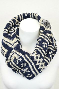 Cozy Sweater Scarf: Navy