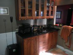 Solid mahogany kitchen I built in summer of 2012