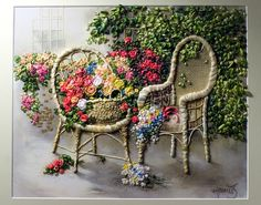 My next Silk Ribbon Embroidery project! Love Di van Niekerk's Silk Ribbon Embroidery. She inspires me!