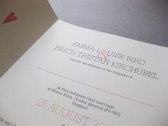 Handmade wedding invitation For bespoke wedding stationery, check out http://www.lovebirdbespoke.com/
