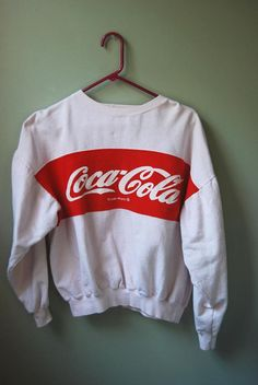 Coke sweatshirts were cool. I had a rainbow colored one.