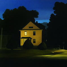 """Story Magazine """"Illuminated Nocturne by Christopher Burk. Oil on panel. Gothic Setting, American Realism, American Shorts, Pop Art Illustration, Edward Hopper, Rural Area, Nocturne, Landscape Photos, Short Stories"""
