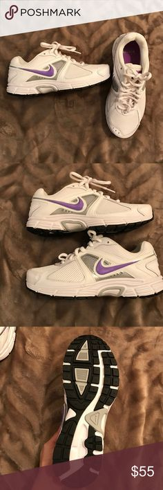 Nike dart 9 running women's sneakers Nike running sneakers .. never worn .. NWOT it was an impulse buy and have had them for two years just sitting in my closet lol plus I tried them on and they're too big for me!! 😓🤔 thanks for looking!! Nike Shoes Sneakers