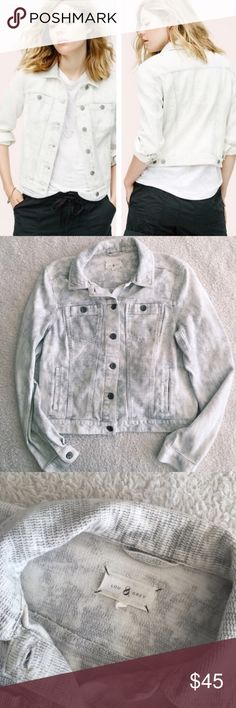 """Loft """"Lou & Grey"""" Textured Jacket In great condition!  Covershot doesn't do the waffle textured acid/space dye wash justice!  You will definitely get compliments wearing this unique piece A great take on the denim jacket!  Button front, button chest pockets No trades, please LOFT Jackets & Coats"""
