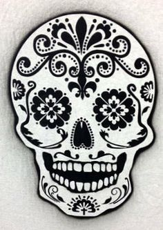 colorful sugar skull painting - Google Search