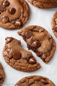 Double Chocolate Chip Nutella Cookies Recipe | Baked by an Introvert