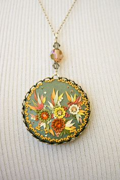 welcome spring - cheerful pendant - RESERVED