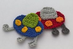 Crochet UFO Applique - Chart ❥ 4U // hf