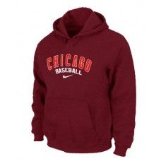 Wholesale Men Fashion Winter Chicago Cubs Red Baseball Pullover Hoodie_Chicago Cubs Pullover Hoodie