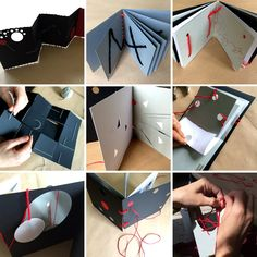 "Per fare un libro ci vuole "" un insieme di fogli di carta (o altro materiale) della stessa dimensione, cuciti e forniti di copertina, che co... D Book, Book Art, 3d Art Projects, Book Folding Patterns, Creative Brochure, Paper Book, Handmade Books, Inspiration For Kids, Bookbinding"