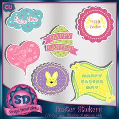 CU Easter Stickers