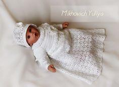 Knit & Crochet КРАСИВЫЕ ВЯЗАНЫЕ ВЕЩИ: Крестильный набор для девочки