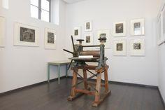 Hans Körnigs Tiefdruckpresse aus Niederwinkling im Museum Körnigreich, Dresden. Bildrechte: Museum Körnigreich