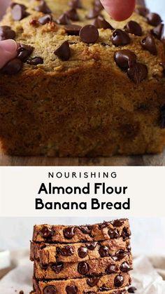 Banana Bread Almond Flour, Dairy Free Banana Bread, Baking With Almond Flour, Almond Flour Recipes, Banana Bread Recipes, Clean Banana Bread, What Is Almond Flour, Desserts With Almond Flour, Ripe Banana Recipes Healthy