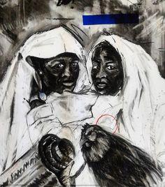 zintombi zamakholwa' Charcoal and Silkscreen on paper X 2017