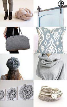 50 shades of grey by Marta Zamkowska on Etsy--featuring ElemenOPillows Gray Pillow Cover