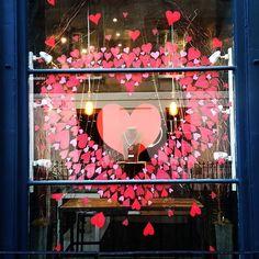 WEBSTA @ lilylunauk - Love is in the air. Love our window display hand drawn by artistic Elspeth @elp_kelp #Valentine #Valentine'sday #Valentineday #windowdisplay #beautifulshopfront #heart #loveheart #valentinegift #edinburghjewellery #jewellerygifts #jewellerygift #Westend #williamstreetedinburgh #love