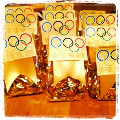 Olympic party goody bags