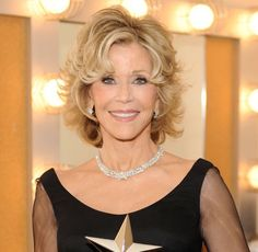 Gorgeous Haircuts for Women Past 70: Another Shot of Jane Fonda (Born 1937)