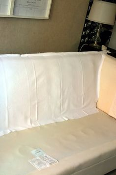 How to make a relatively cheap and easy no-hem slipcover - Fashion and home decor DIY and inspiration