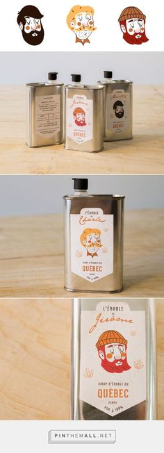 J'aime mon érable / Maple syrup by Marie-Pier Mercier Cool Packaging, Food Packaging Design, Coffee Packaging, Bottle Packaging, Packaging Design Inspiration, Brand Packaging, Graphic Design Inspiration, Branding Design, Packaging Stickers