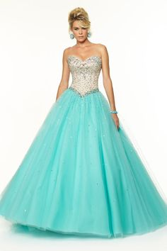 2015 Bicolor Quinceanera Dresses Sweetheart Floor-Length Tulle Ball Gown Lace Up Beaded Bodice