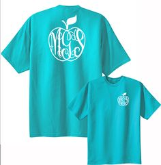 Show your teacher she is the best with this Preppy Apple Monogram shirt. | Under The Carolina Moon