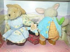 *2003 Muffy vanderBear as Beartrix Potter & Hoppy vanderHare as Peter Rabbit with Tom Kitten in a carpet bag in between them