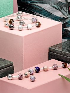 Style your PANDORA ESSENCE COLLECTION bracelet with beautiful colored charms symbolizing your inner values. The delicate design and meaningful charms make it stylish and unique. Pandora Bracelet Charms, Pandora Rings, Pandora Jewelry, Pandora Accessories, Pandora Essence Collection, Jewelry Photography, Fashion Bracelets, Runway Fashion, Fashion Models