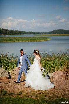 A beautiful ceremony in the rain at a summer cottage, couple portraits on a boat and then the sun came out to celebrate at Adventure Valley at this Porvoo Wedding. Couple Portraits, Finland, Groom, Bride, Couples, Celebrities, Wedding Dresses, Amazing, Summer