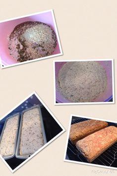 Superenkle eltefrie grove speltbrød – Veien til en frisk mage Frisk, Sheet Pan, Baking, Egg, Springform Pan, Eggs, Bakken, Bread, Backen