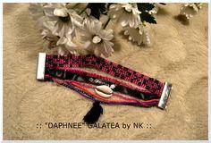 "Bracelet manchette aimanté ""DAPHNEE"" by GALATÉA : Bracelet par nellykreations"
