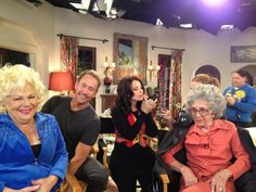Remember THE NANNY? Fran Drescher has a new TV show on TVLand called HAPPILY DIVORCED. This photo is of a show taped this week with former cast members Renee Taylor & Ann Guilbert & former husband Peter Marc Jacobson!