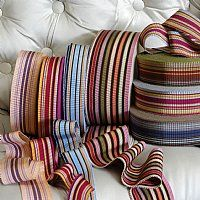 Striped ribbons by VV Rouleaux