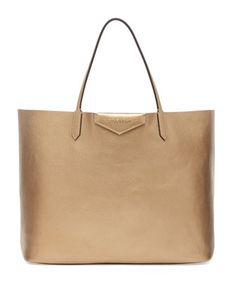 Antigona Large Leather Shopping Tote, Golden by Givenchy at Bergdorf Goodman.